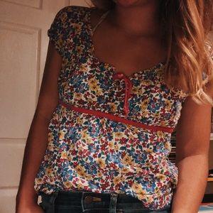 floral hollister blouse